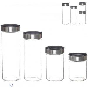 Frasco de vidro e metal 1300ml